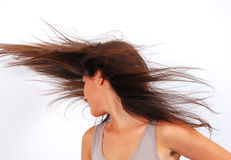 Hair blowing Stock Image