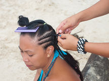Hair braiding Stock Photography