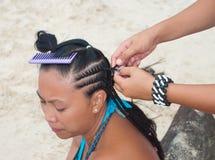 Hair braiding Stock Photography