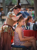 Hair Braiding Maryland Renaissance Festival Stock Images