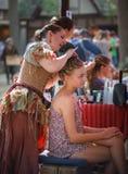 Hair Braiding Maryland Renaissance Festival stock images