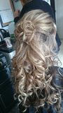 Hair. Bridesmaid hair wedding Stock Photography