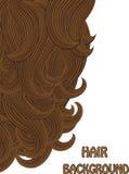 Hair brunette vector background Royalty Free Stock Photo