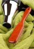Hair brush wood Royalty Free Stock Images