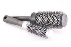 Hair brushes. Two hair brushes isolated on white background Royalty Free Stock Image