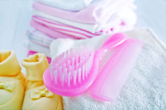 Hair brushes Stock Image