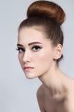 Hair bun Royalty Free Stock Image