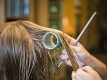 Hair care close-up Stock Photo