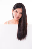 Hair care concept placard Royalty Free Stock Photo