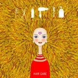 Hair care and hair salon illustration Stock Photos