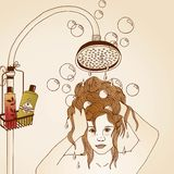 Hair care illustration Royalty Free Stock Photography