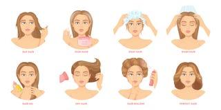 Hair care set. Royalty Free Stock Photos