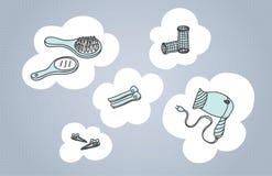 Hair Care Set. Vector illustration stock illustration