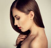 Hair care woman Stock Photography