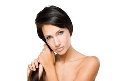 The hair check. Royalty Free Stock Photography