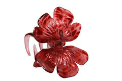 Hair clip, barrette. Red plastic barrette, hair clip Stock Photography