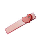Hair clip of red heart Royalty Free Stock Photos