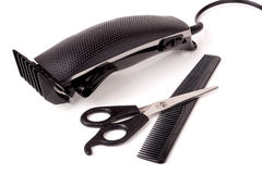 Hair clipper isolated on white background Stock Photos