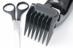 Hair clipper scissors Royalty Free Stock Photography