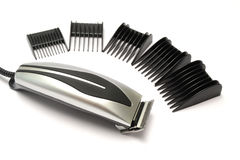 Hair clipper set. On white background royalty free stock images