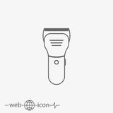 Hair clipper vector icon. shear cutter. On grey background Royalty Free Stock Photography