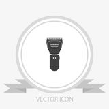 Hair clipper vector icon. shear cutter. On grey background Royalty Free Stock Image