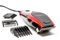 Hair clipper on white background. For beauty salon equipment concept royalty free stock photo