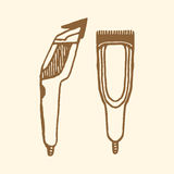 Hair clippers implements Royalty Free Stock Images
