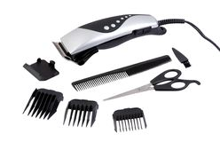Hair clipping tool set Stock Photo
