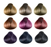 Hair color set Stock Image