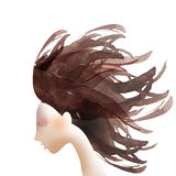 Hair coloring concept abstract illustration. Stock Image