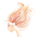 Hair coloring concept abstract illustration. Royalty Free Stock Photo
