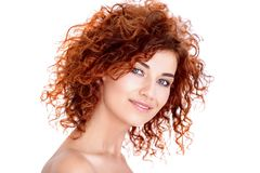 Hair coloring and curling Stock Photo