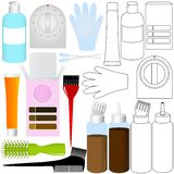 Hair Coloring Kit products Stock Images