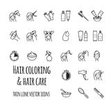 Hair coloring vector icons set. For your design royalty free illustration