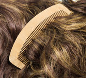 Hair and comb Royalty Free Stock Image