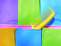 Hair comb in pocket Stock Photo
