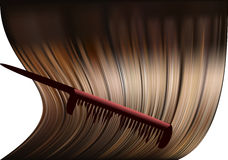 Hair and comb Royalty Free Stock Photos