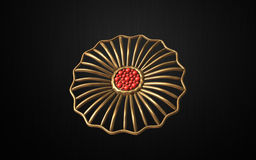 Hair combs ( Flower) Gold and red Stock Photography