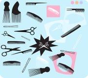 Hair Combs Scissors Stock Photography
