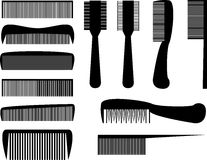 Hair combs Stock Images
