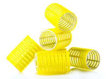 Hair curlers royalty free stock images