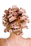 Hair curlers royalty free stock photos