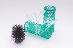 Hair curlers. Two hairdressing accessories hair curling royalty free stock photos