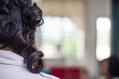 Hair Curling Royalty Free Stock Photos