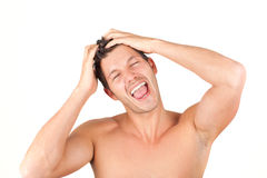 Hair cut dress style young adult man Royalty Free Stock Photos