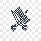 Hair cut tool vector icon isolated on transparent background, Hair cut tool logo design Royalty Free Stock Photography