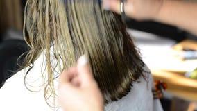 Hair cut stock footage