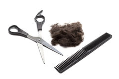 Hair Cutting Supplies royalty free stock images
