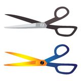 Hair-cutting, tailoring, craft tool scissors Stock Photos